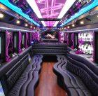a limousine interior