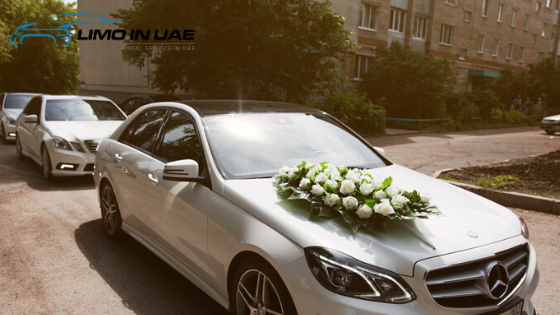 White wedding car dubai